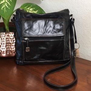 ❣️GIANI BERNINI Black Leather Crossbody!